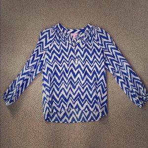 Chevron Lilly Top